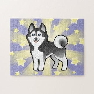 Husky siberiano del dibujo animado/Malamute de Ala Puzzles