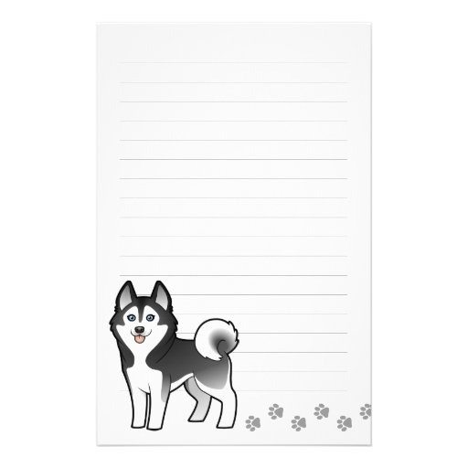 Husky siberiano del dibujo animado/Malamute de Papelería De Diseño
