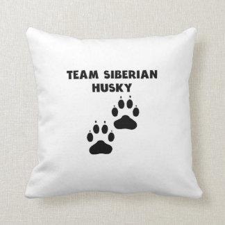 Husky siberiano del equipo almohada