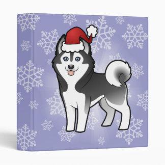 "Husky siberiano del navidad/Malamute de Alaska Carpeta 1"""