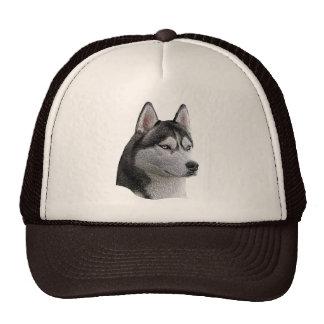 Husky siberiano - imagen estilizada - añada su tex gorros