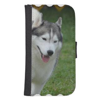 Husky siberiano lindo billetera para galaxy s4