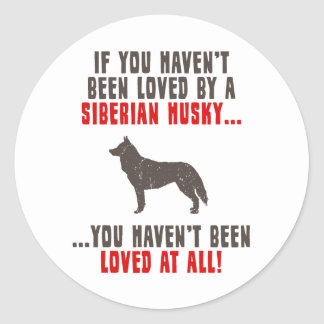 Husky siberiano pegatina redonda