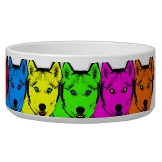 Husky siberiano personalizado del arte pop bol para perro