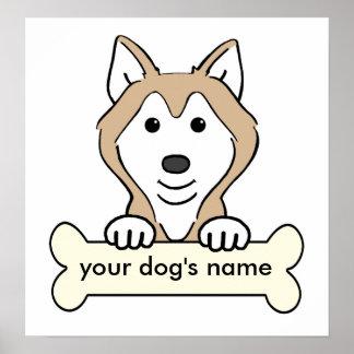 Husky siberiano personalizado impresiones