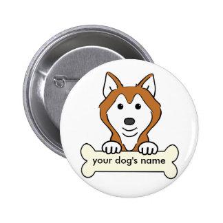 Husky siberiano personalizado pin