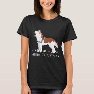 Husky siberiano - rojo - diseño de las Felices Playera
