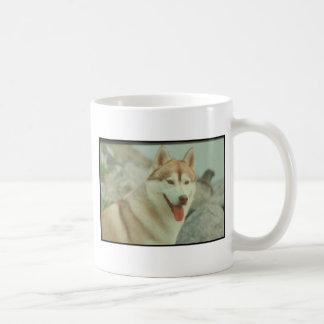 Husky siberiano rojo taza