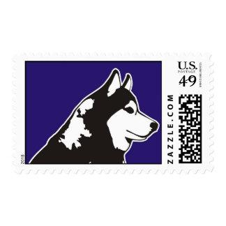 Husky siberiano sello