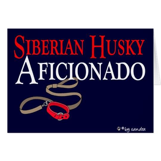 Husky siberiano tarjeta de felicitación