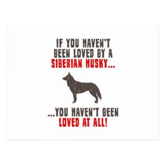 Husky siberiano tarjeta postal