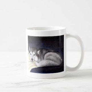 Husky siberiano taza