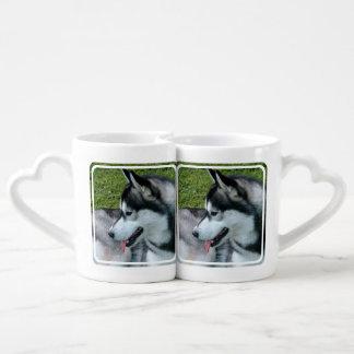 Husky siberiano tazas para enamorados