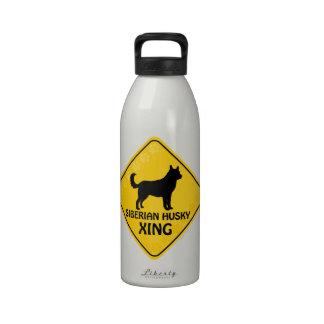 Husky siberiano Xing Botella De Agua