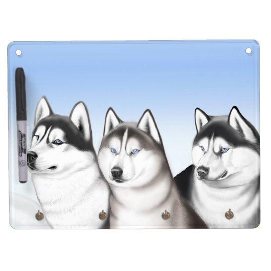 Husky Sled Dogs Dry Erase Board