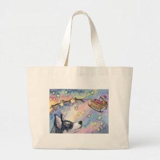 Husky Sleigh Dogs Tote Bag