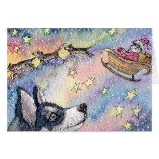 Husky Sleigh Dogs Greeting Cards