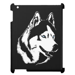 Case Savvy Glossy Finish iPad Case with Siberian Husky Phone Cases design