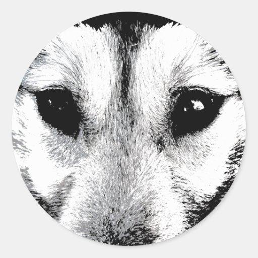 Husky Stickers Siberian Husky Wolf Pup Stickers