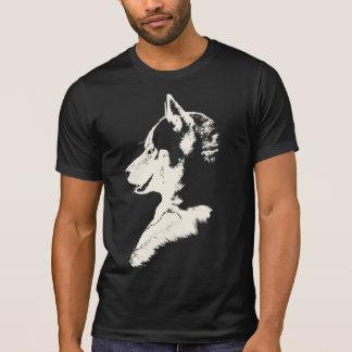 Husky T-Shirt Husky / Wolf Art Tee Dog Shirts