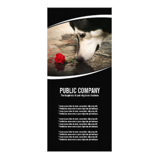 Husky with Red Rose Rack Card