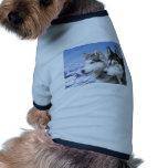 Huskyes siberianos camiseta de perrito