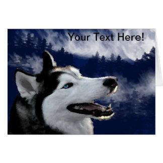 Huskys de Alaska Tarjeta De Felicitación