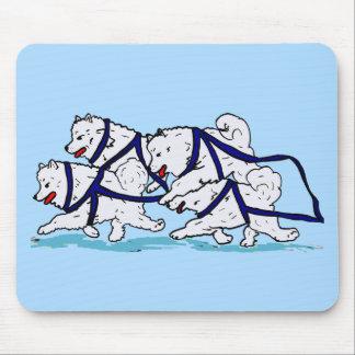 Huskytoons Samoyed Team Mouse Pad