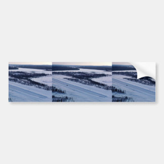 Huslia Landing Strip Bumper Sticker
