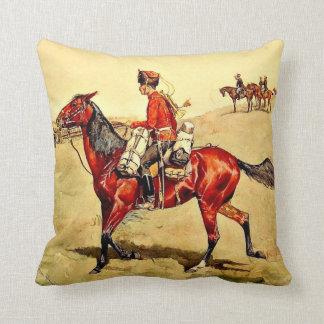 Hussar Russian Guard Corps, Remington painting Throw Pillow