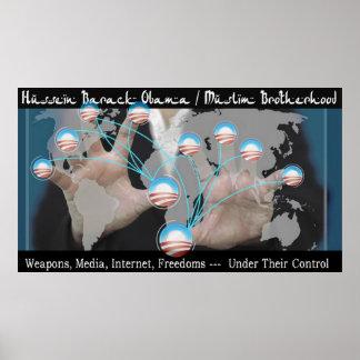 Hussein Barack Obama/fraternidad musulmán Póster