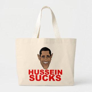 Hussein chupa bolsa tela grande