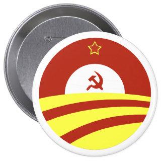 Hussein Obama dice: Separe la riqueza Pin Redondo De 4 Pulgadas