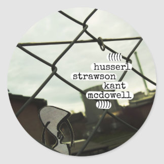 husserl strawson kant mcdowell classic round sticker