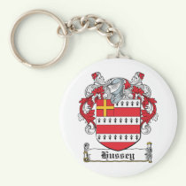Hussey Family Crest Keychain
