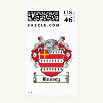 Hussey Family Crest Stamps