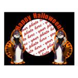 Hussy de Halloween/gato de Halloween Postal