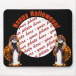 Hussy de Halloween/gato de Halloween Tapetes De Ratones