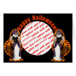 Hussy de Halloween/gato de Halloween Tarjeta De Felicitación