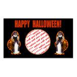 Hussy de Halloween/gato de Halloween Tarjetas De Visita