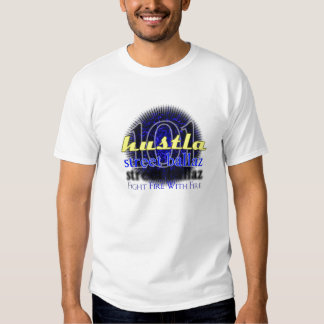 Hustla101 design blue fire T-Shirt