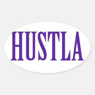 Hustla Oval Sticker