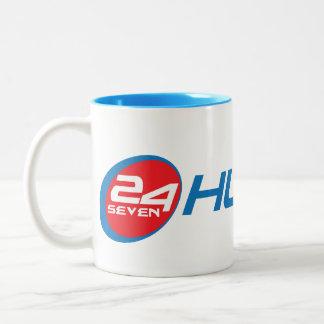 Hustle 24 Seven Red & Blue Coffee Mug