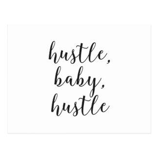 Hustle, Baby, Hustle Cursive Script Postcard