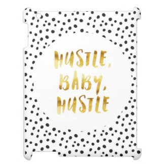 Hustle, Baby, Hustle Gold Cursive Saying Cover For The iPad 2 3 4