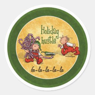 Hustle & Bustle - Good Cheer! Round Stickers