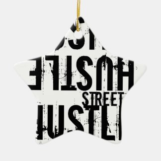 hustle ceramic ornament