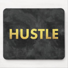Hustle Gold Watercolor Modern Typography Mousepad at Zazzle