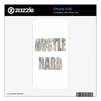 Hustle Hard iPhone 4 Decal