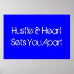 Hustle & Heart Sports Motivational Poster